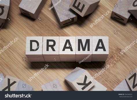 Drama Word Wooden Cube Stock Photo 564346552
