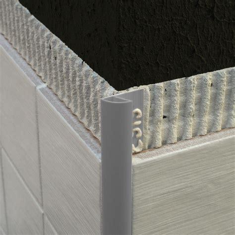 genesis plastic  edge tile trim grey etr trade tile