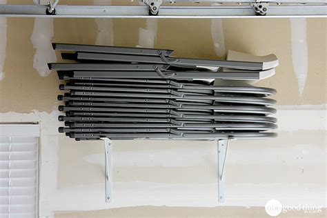 storage for folding chairs and tables diy storage solutions for a well organized garage