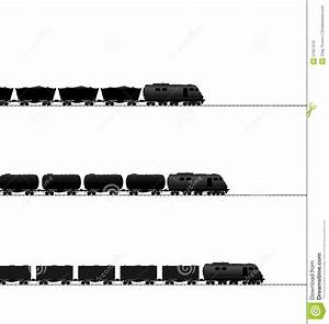 Three Train With Powered Locomotive, Cisterns Oil Stock ...