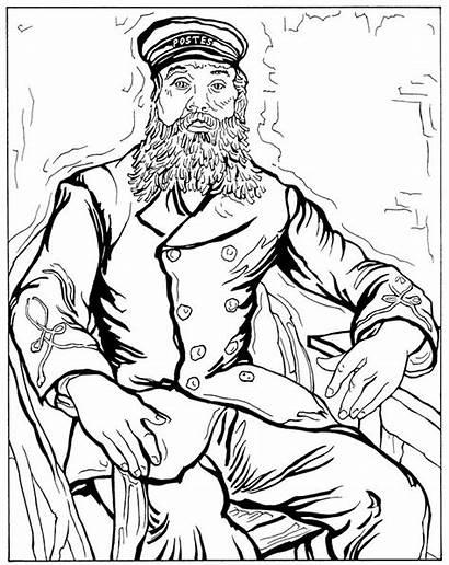 Gogh Van Coloring Pages Vincent Joseph Roulin