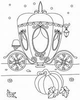 Coloring Carriage Pages Zolushka sketch template