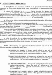 Essay on dramatic poesy editing services for dissertation essay on ...