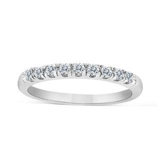 sk inc 1 5ctw diamond wedding band in 10k white gold