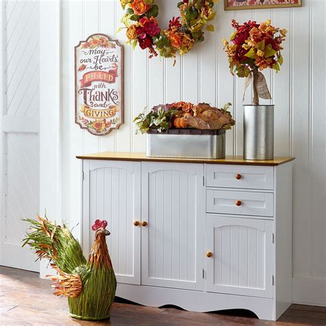 Country Kitchen Buffet Levittown by Brylanehome Country Kitchen Buffet Honey White 0