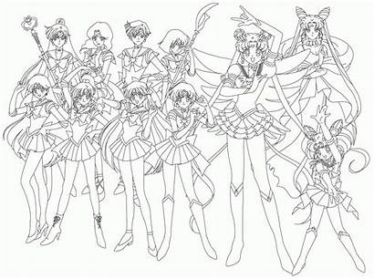 Coloring Anime Sailor Popular Coloringhome