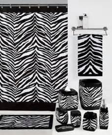 Zebra Print Bathroom Set safari black amp white zebra print bath accessories
