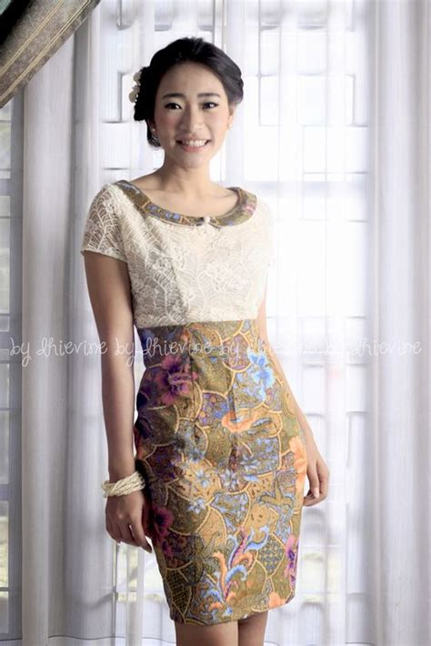 baju batik modern murah  solo model dress batik