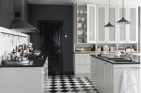 black and white kitchen Bistro Kitchen Decor: How to Design a Bistro Kitchen