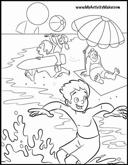 Coloring Summer Pages Seasons Season Printable Fun