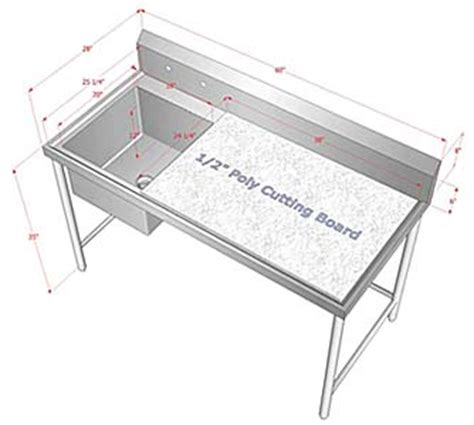 stainless steel fish cleaning table with sink customized sinks dishtables restaurant equipment