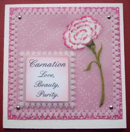 parchment craft design  wendy walters painted carnation