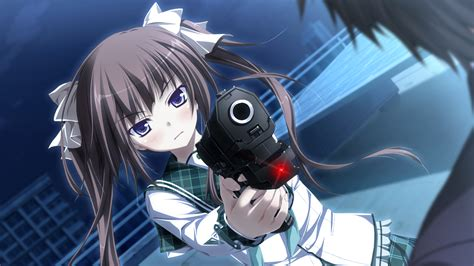 Anime Gun Wallpaper - anime twintails hapymaher gun wallpapers hd desktop