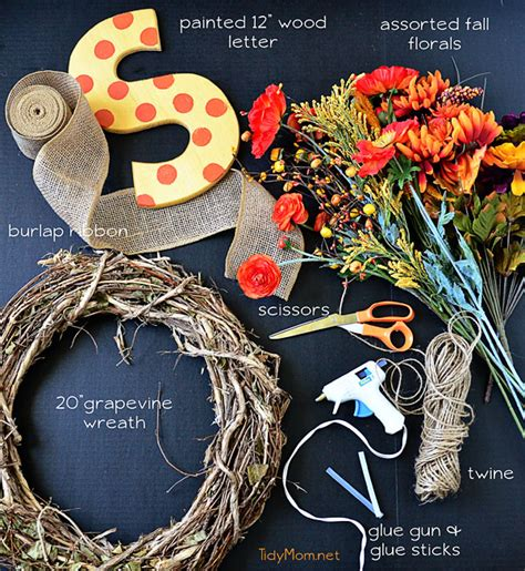 make your own fall wreath diy monogram fall wreath