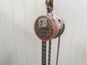 Cm Columbus Mckinnon 646 2ton Manual Chain Fall Hoist 7