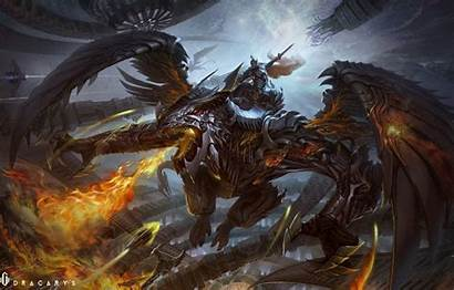 Wings Fire Armor Dragon Wallpapers Fantasy Nightwing