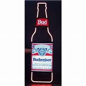 Neon Sign Budweiser Bottle Shaped