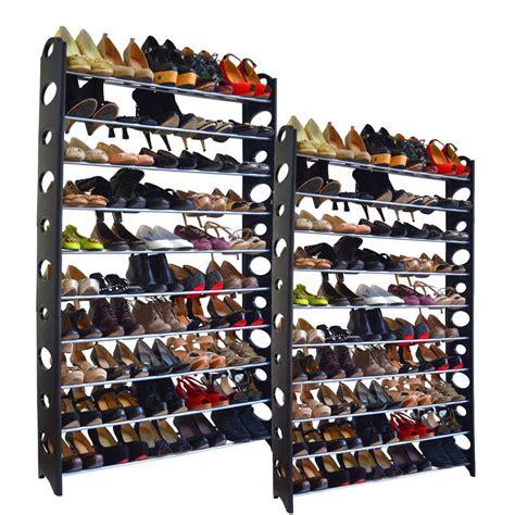 Shoe Racks Closet by 20 Tier Shoe Rack 100 Pair Wall Bench Shelf Closet