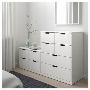 Commode 160 Cm : nordli commode 10 tiroirs blanc 160 x 99 cm ikea ~ Teatrodelosmanantiales.com Idées de Décoration