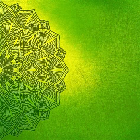 illustration background flower green yellow