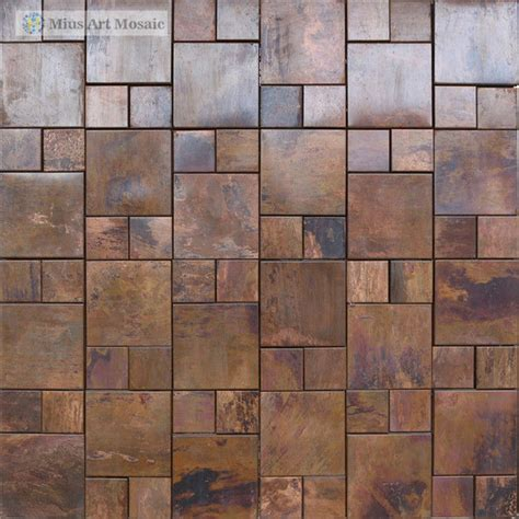 copper mosaic tile popular copper backsplash tiles buy cheap copper