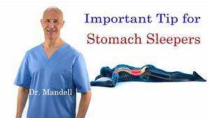 important tip for stomach sleepers stop neck back pain With can sleeping on your stomach cause back pain
