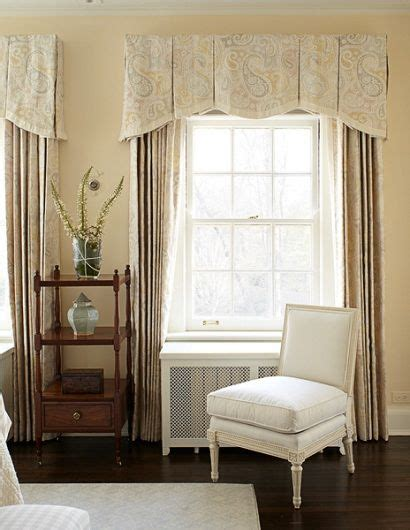 box pleated  shaped valance  contrast edge clever
