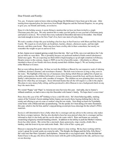 funny christmas letter    read funny letters
