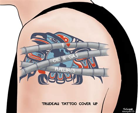 Trudeau was inked when he was in his 20s. Prime Minister Justin Trudeau - tonup.ca