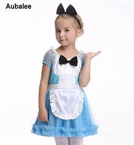 Girls Alice in Wonderland Costume Dress Kids Halloween ...