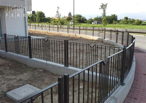 ringhiera esterna recinzione esterna zincata e verniciata idealferro