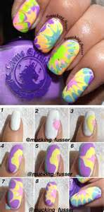 tie dye roses nail tutorials step by step for beginners learners