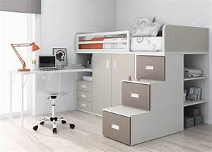 Lit Bureau Enfant : ensemble lit bureau rangement enfant recherche google ~ Farleysfitness.com Idées de Décoration
