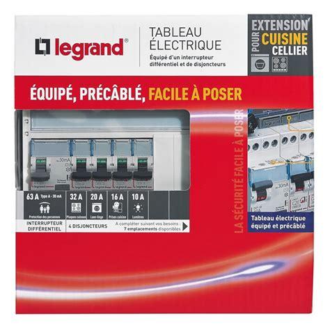 tableau electrique pour cuisine tableau électrique équipé legrand spécial pour extension cuisine cellier tableau électrique