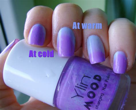 acrylic nail designs color changing mood nail