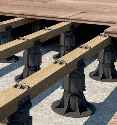 wood plank roof decks adjustable support pedestal