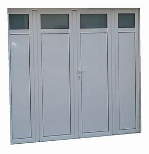 porte de garage aluminium isole 4 vantaux standard h 2 With porte d entrée alu avec accessoires salle de bain porcelaine blanche