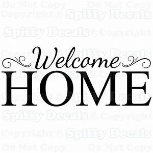 welcome home family removable vinyl wall decals sticker With how to make vinyl letters at home