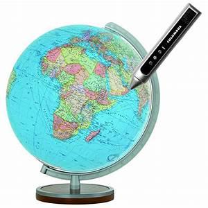 Globe Terrestre Sur Pied : globe terrestre lumineux duo 34 cm avec pied en bois interactif v ~ Teatrodelosmanantiales.com Idées de Décoration