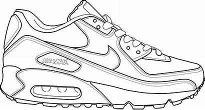 Nike Shoes Drawing Coloring Drawings Pages Jordan