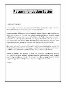Employer Letter Of Recommendation Template For Your Needs