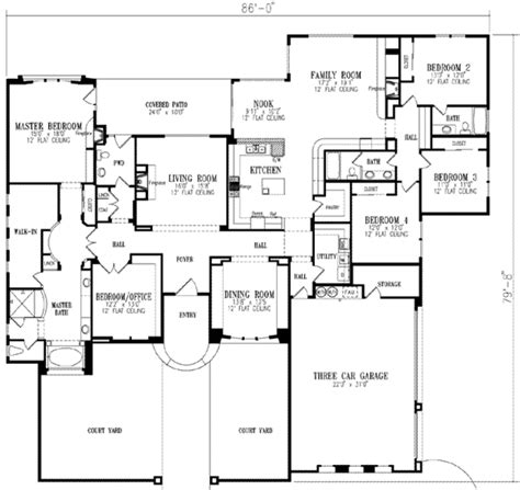5 bedroom house plan european style house plan 5 beds 3 5 baths 3619 sq ft