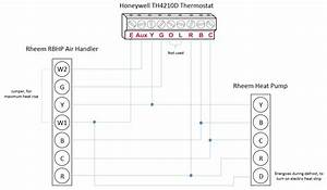 Honeywell T-stat    Rheem Heat Pump  L  E  Aux  W1  W2 Wiring Questions - Hvac