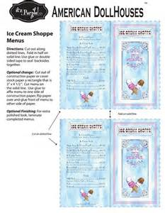 American Girl Doll Ice Cream Printables