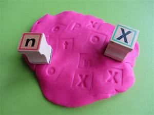 4 fun ways to use play dough for letter recognition With playdough letter stamps