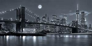Bild New York Schwarz Weiß : deko panel brooklyn bridge wandbild schwarz wei grau ma e b h ca 100x50 cm ~ Bigdaddyawards.com Haus und Dekorationen