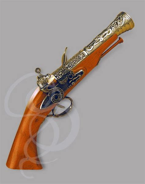 flintlock boarding pistol brass