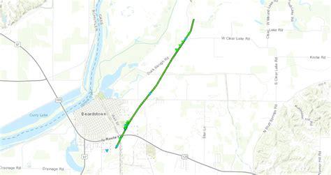 Jefferson City Tornado Track Map