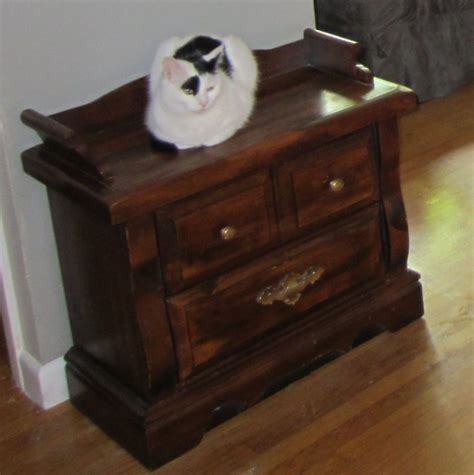 hometalk repurposed  table  hidden litter box