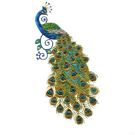 Peacock Applique by Swnpa128 Peacock Embroidery Design Embrodiery Peacock